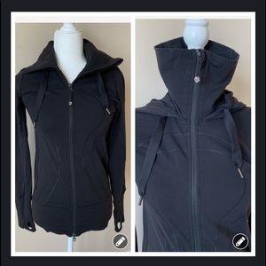 Lululemon zip up mock neck with hood #521